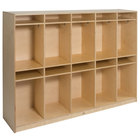 """Whitney Brothers WB0196A 10-Section Children's Wood Coat Locker - 60 1/2"""" x 14 3/4"""" x 48"""""""