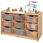 """Whitney Brothers WB0909T 9-Tray Children's Wood Storage Cabinet - 40 1/2"""" x 18"""" x 27"""""""