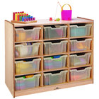 """Whitney Brothers WB0912T 12-Tray Children's Wood Storage Cabinet - 40 1/2"""" x 18"""" x 34 1/2"""""""