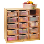 """Whitney Brothers WB0915T 15-Tray Children's Wood Storage Cabinet - 40 1/2"""" x 18"""" x 42"""""""