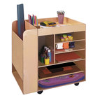 """Whitney Brothers WB0285R Children's Wood Rolling Art Cart - 29 3/4"""" x 24 1/2"""" x 33"""""""