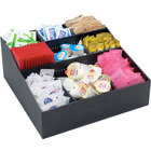 Cal-Mil 1260 Adjustable Black Coffee Condiment Organizer - 12