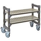 Cambro EMU144827V2580 Camshelving® Elements 14 inch x 48 inch x 27 inch Vented 2-Shelf Mobile Undercounter Shelving Unit