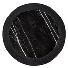 American Metalcraft MBR14 14 inch Round Black Marble / Slate Two-Tone Melamine Serving Platter