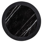 American Metalcraft MBR16 16 inch Round Black Marble / Slate Two-Tone Melamine Serving Platter