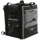 Vollrath VTBW300 3-Series 18 inch x 17 inch x 22 inch Black Insulated Nylon Tower Bag with Wire Insert, Backpack Straps, and Headrest Strap