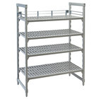 Cambro CPR18243151 Three-Quarter Shelf Rail Kit for 18 inch x 24 inch Cambro Camshelving® Premium Stationary or Mobile Units