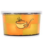 Huhtamaki 70416 16 oz. Streetside Print Double-Wall Poly Squat Paper Soup / Hot Food Cup with Plastic Lid - 250/Case