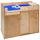 Whitney Brothers WB0648 43 1/2 inch x 24 3/4 inch x 37 1/2 inch Toddler Step-Up Wood Changing Cabinet