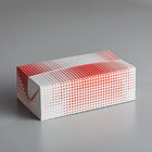 9 inch x 5 inch x 3 inch Red Plaid / Dot Take-Out Lunch / Chicken Box with Fast Top   - 250/Case