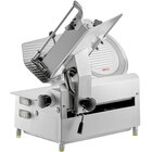 Avantco SL713A 13 inch Medium-Duty Automatic Meat Slicer with Manual Use Option - 3/4 hp