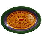 Elite Global Solutions V1411 Cantina 14 7/8 inch Multi-Color Oval Melamine Platter - 6/Case