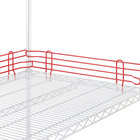 Metro L24N-4-DF Super Erecta Flame Red Stackable Ledge 24 inch x 4 inch