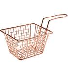 Choice 5 inch x 4 inch x 3 inch Rose Gold Rectangular Mini Fry Basket