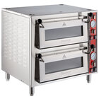 Avantco DPO-18-DD Double Deck Countertop Pizza/Bakery Oven with Two Independent Chambers - 3200W, 240V