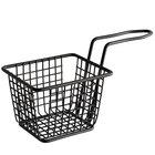 Choice 4 inch x 3 inch x 3 inch Black Rectangular Mini Fry Basket
