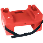 Koala Kare Booster Buddies KB117-S-03 Red Plastic Booster Seat - Dual Height with Safety Strap - 2/Pack