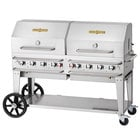 Crown Verity CV-RCB-60RDP-SI-BULK 60 inch Pro Series Outdoor Rental Grill with Single Gas Connection, Bulk Tank Capacity, and Double Roll Dome Package