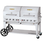 Crown Verity CV-MCB-60-SI-BULK-RDP Liquid Propane 60 inch Mobile Outdoor Grill with Single Gas Connection, Bulk Tank Capacity, and Double Roll Dome Package