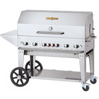 Crown Verity CV-MCB-48-SI50/100-PKG Liquid Propane 48 inch Mobile Outdoor Grill with Single Gas Connection, 50-100 lb. Capacity, and Accessory Package