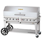 Crown Verity CV-RCB-60-1RDP-SI-BULK 60 inch Pro Series Outdoor Rental Grill with Single Gas Connection, Bulk Tank Capacity, and Single Roll Dome Package