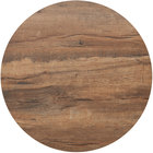 BFM Seating KP48R Relic Knotty Pine 48 inch Round Melamine Table Top with Matching Edge
