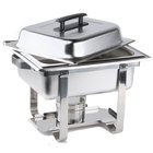 Half size stainless steel chafer with opened lid