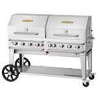 Crown Verity CV-RCB-60-2RDP-SI50/100 60 inch Pro Series Outdoor Rental Grill with Single Gas Connection, 50-100 lb. Tank Capacity, and Double Roll Dome Package