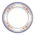 Thunder Group 1013AR Rose 12 5/8 inch Round Melamine Plate - 12/Pack