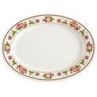 GET M-4040-TR Tea Rose 10 inch x 7 1/2 inch Oval Melamine Platter - 12/Pack