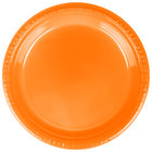 Creative Converting 28191021 9 inch Sunkissed Orange Plastic Plate   - 240/Case