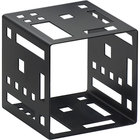 Cal-Mil 1607-5-13 5 inch Black Steel Squared Cube Riser