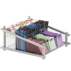 Cal-Mil 1148-74 Silver One by One Condiment Organizer - 13 inch x 14 inch x 6 1/2 inch