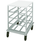 Advance Tabco CR10-72 Spec Line #10 Aluminum Can Rack Mobile with Aluminum Top - Half Size