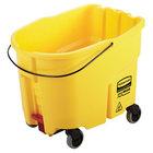 Rubbermaid 2031763 WaveBrake® 35 Qt. Yellow Mop Bucket with Drain