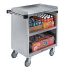 Lakeside 844 3 Shelf Heavy Duty Stainless Steel Utility Cart with Enclosed Base - 22 1/2 inch x 39 5/16 inch x 37 inch
