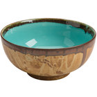Homer Laughlin 106341841 Fresco Hues Robin's Egg Blue 38 oz. Small China Noodle Bowl - 12/Case