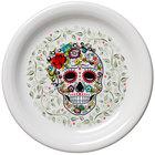 Homer Laughlin HL146141823 Skull and Vine Sugar 6 3/4 inch Appetizer Plate - 12/Case