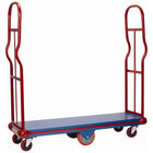 Winholt 300-60D-ULTRA Ultra U-Boat 16 inch x 60 inch Heavy Duty Utility Cart with Diamond Steel Deck - 2000 lb. Capacity
