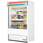 True TAC-48-LD White Vertical Air Curtain Refrigerator
