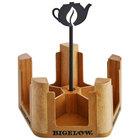 Bigelow Tea 5 Compartment Wooden Tea Bag Caddy