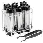 Beer Tubes CHR6 Chill Stick Rack with 6 Chill Sticks and Plastic Tong