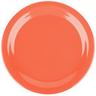 Carlisle 4350152 Dallas Ware 9 inch Sunset Orange Melamine Plate - 48/Case
