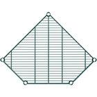 Regency 24 inch Deep NSF Green Epoxy Wire Pentagon Corner Shelf