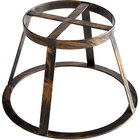 GET MTS-R6-AB Madison Avenue 6 inch Tall Antique Brass Round Display Stand / Pedestal for SB-1300 and SB-1212 Display Boards