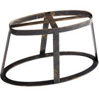 GET MTS-OV6-AB Madison Avenue 6 inch Tall Antique Brass Oval Stand / Pedestal for SB-1460 and SB-1812 Display Boards