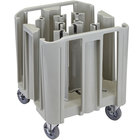 Cambro ADCSC8PKG S-Series Speckled Gray Compact Adjustable Dish Dolly / Caddy - 5 / 8 Column