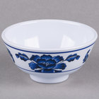 Thunder Group 3006TB Lotus 9 oz. Round Melamine Rice Bowl - 12/Case