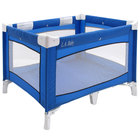 L.A. Baby PY-89 43 1/2 inch x 30 1/2 inch x 30 1/2 inch Blue Playard with Carrying Case