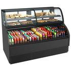 Structural Concepts Harmony HMBC6-E3 Black 75 3/8 inch Refrigerated Dual Service Merchandiser Case - 120/230V